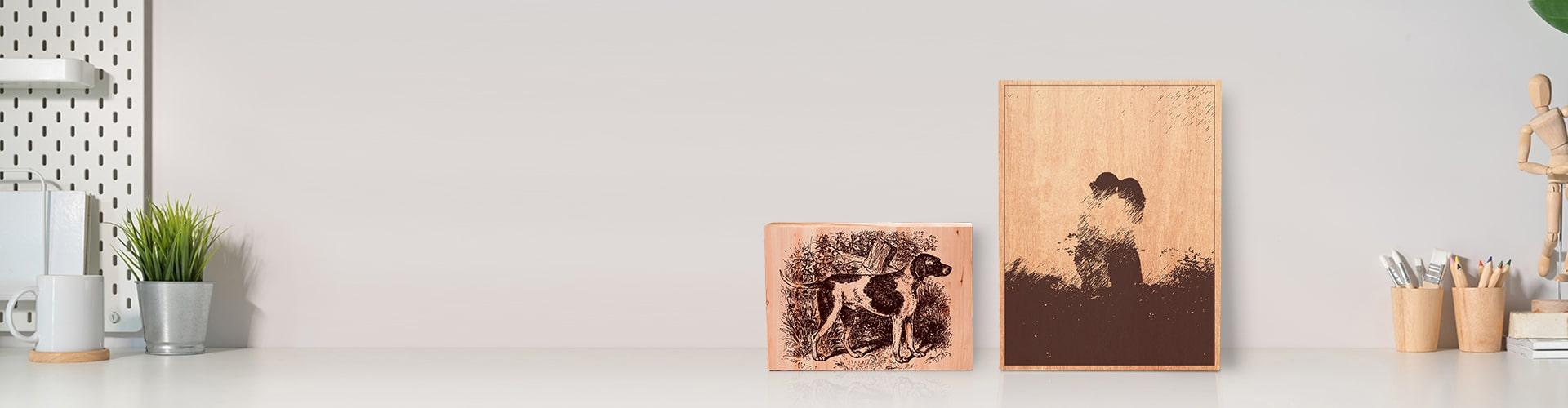 Engraved Wood Prints